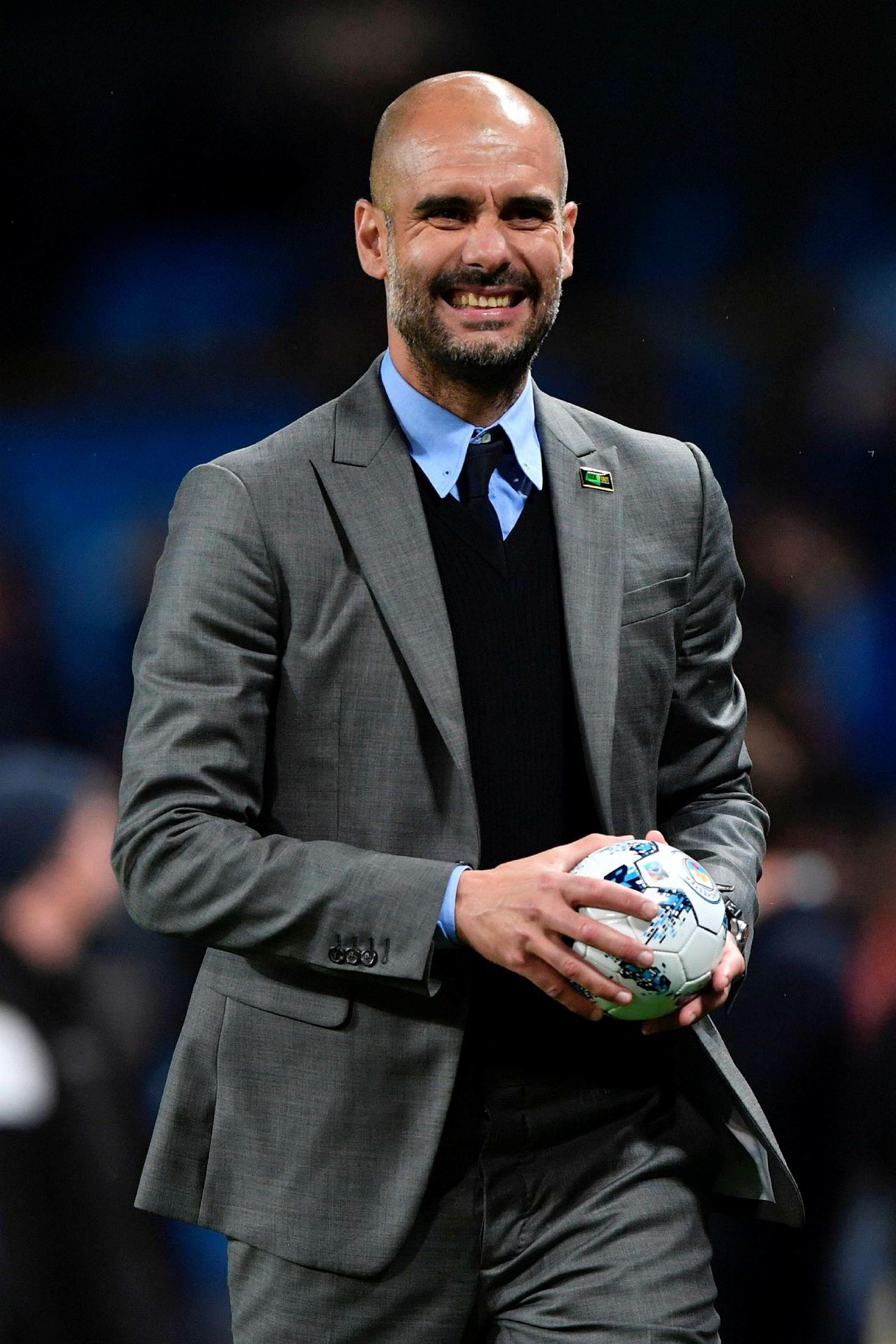 På topp. Manchester Citys spanske manager Pep Guardiola.