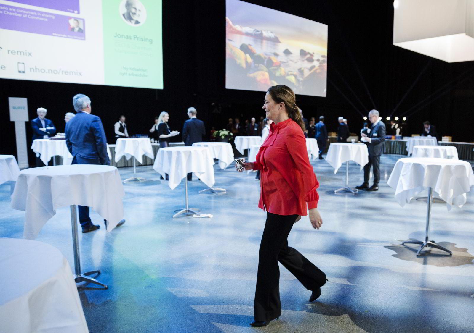 Alexandra Bech Gjørv på NHO sin Årskonferanse. Foto: Per Thrana