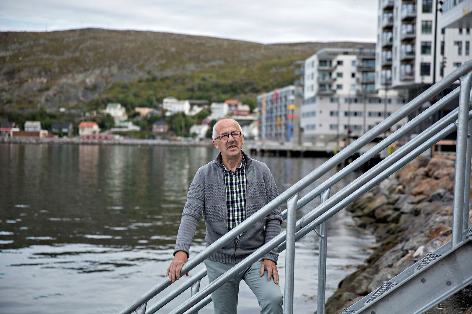 Oljeforkjemper Arvid Jensen, styreleder i Hammerfest Næringsforening, mener det er trist hvis det ikke blir en oljeterminal i Finnmark.