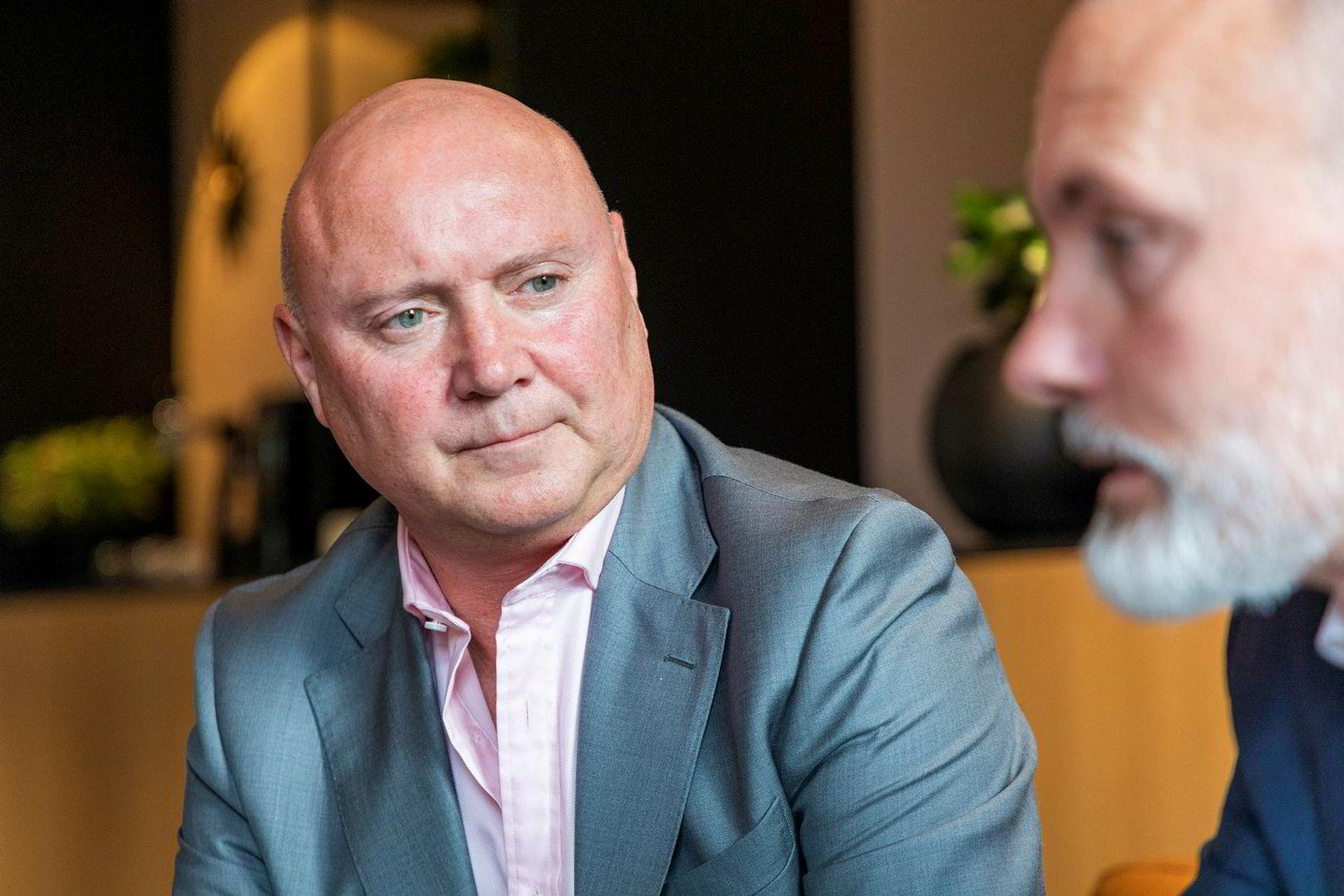 Styreleder Thomas Christensen (t.v.) og administrerende direktør Geir Johansen i Element.