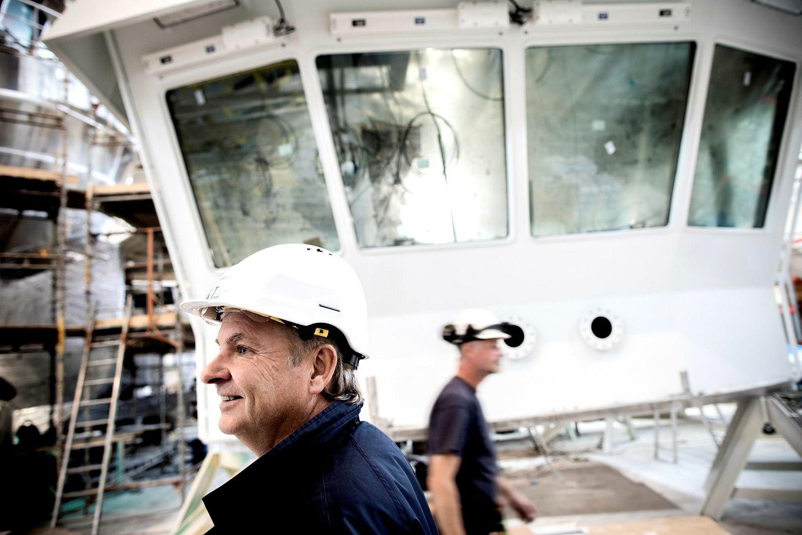 Produksjon av fiskebåter i datterselskapet Got Skogsøy er et viktig satsingsområde for Got-konsernet, sier Tor Henning Ramfjord.