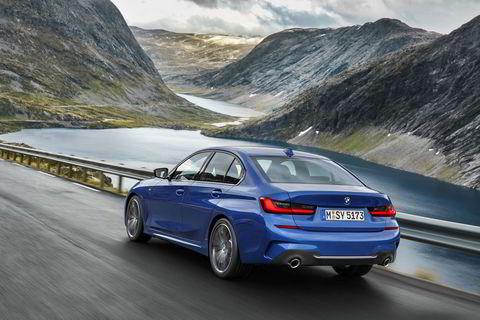 Bildene av BMW 3-serie ble tatt i Møre og Romsdal tidligere i høst.