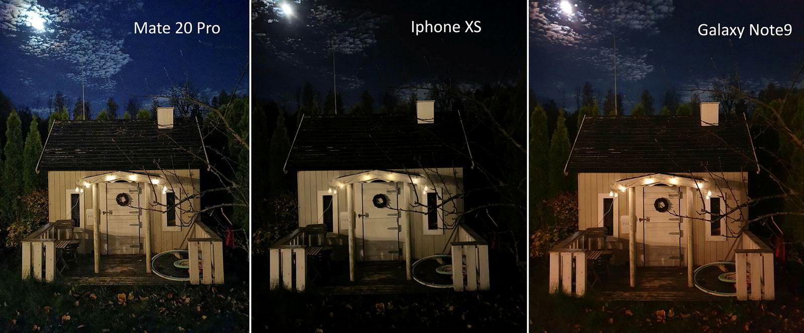 Nattbilde 1 med litt lys fra omliggende hus.