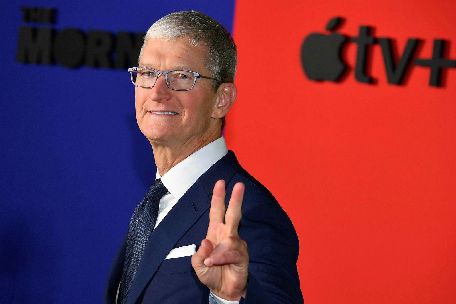 Toppsjef i Apple Tim Cook. Han tok over etter grunnlegger Steve Jobs' død i 2011. Han har jobbet i selskapet siden 1998.