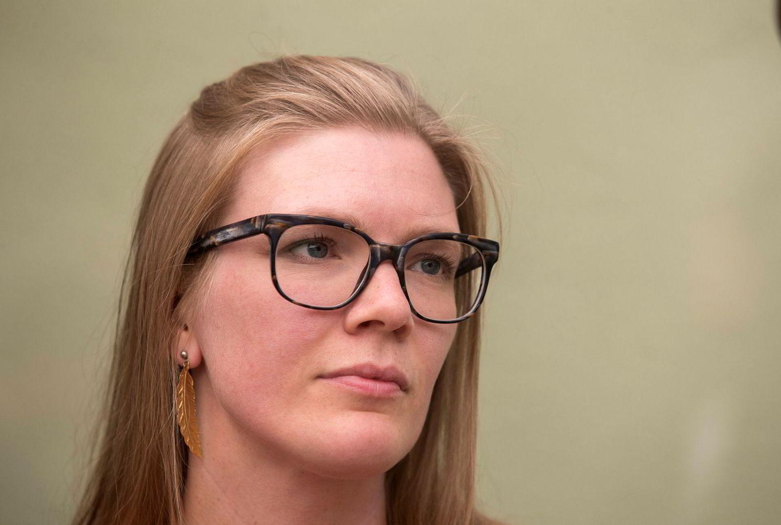 Nestleder Marie Sneve Martinussen i Rødt.