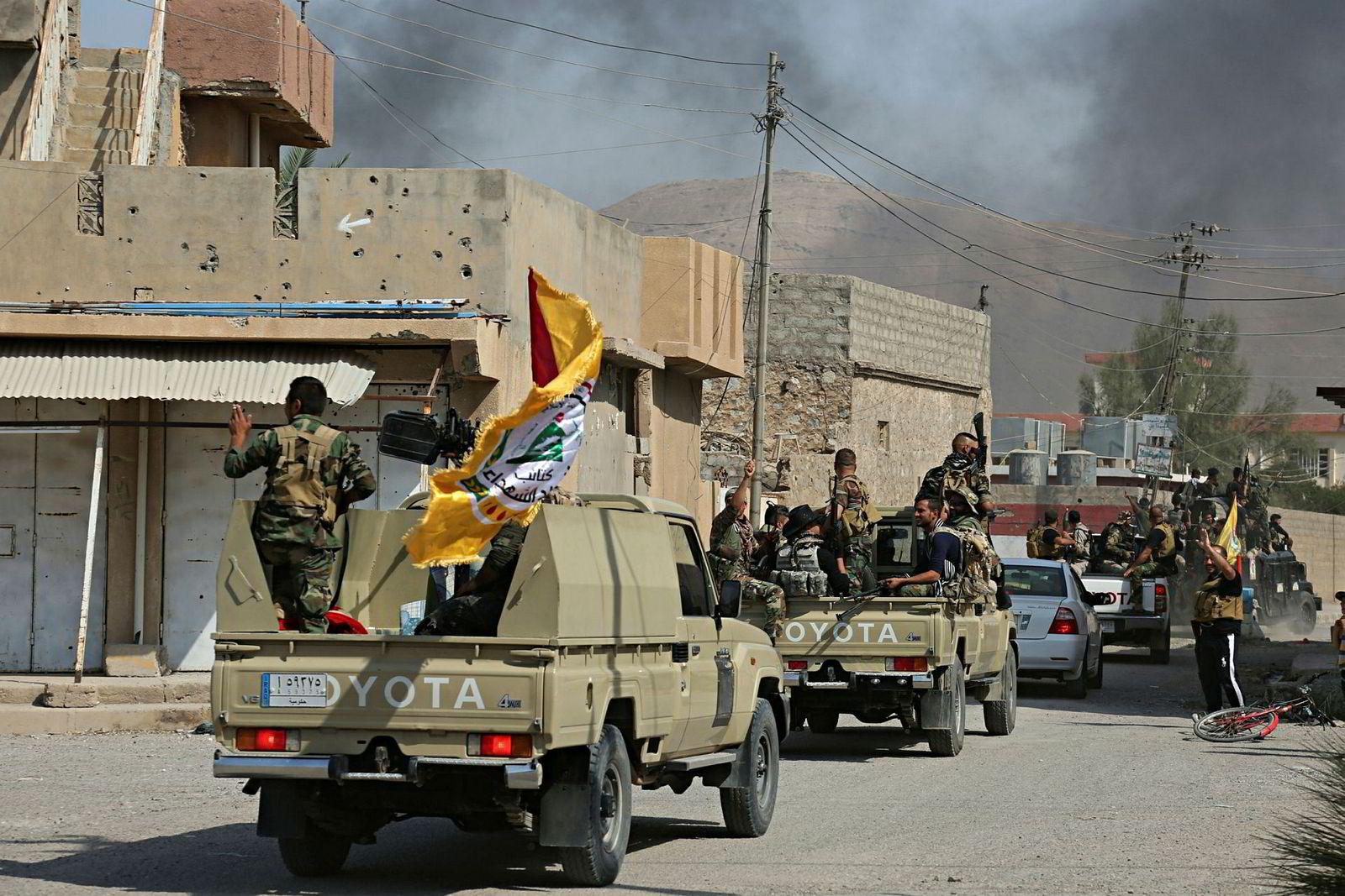 Irakiske styrker i Tuz Khormato.