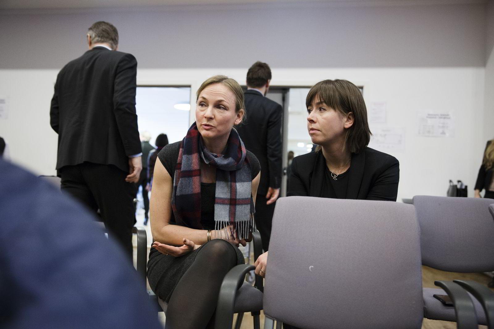 Fra venstre: Liv Freihow, direktør for næringspolitikk i IKT-Norge og Heidi Austlid, daglig leder IKT-Norge. Foto: Per Thrana