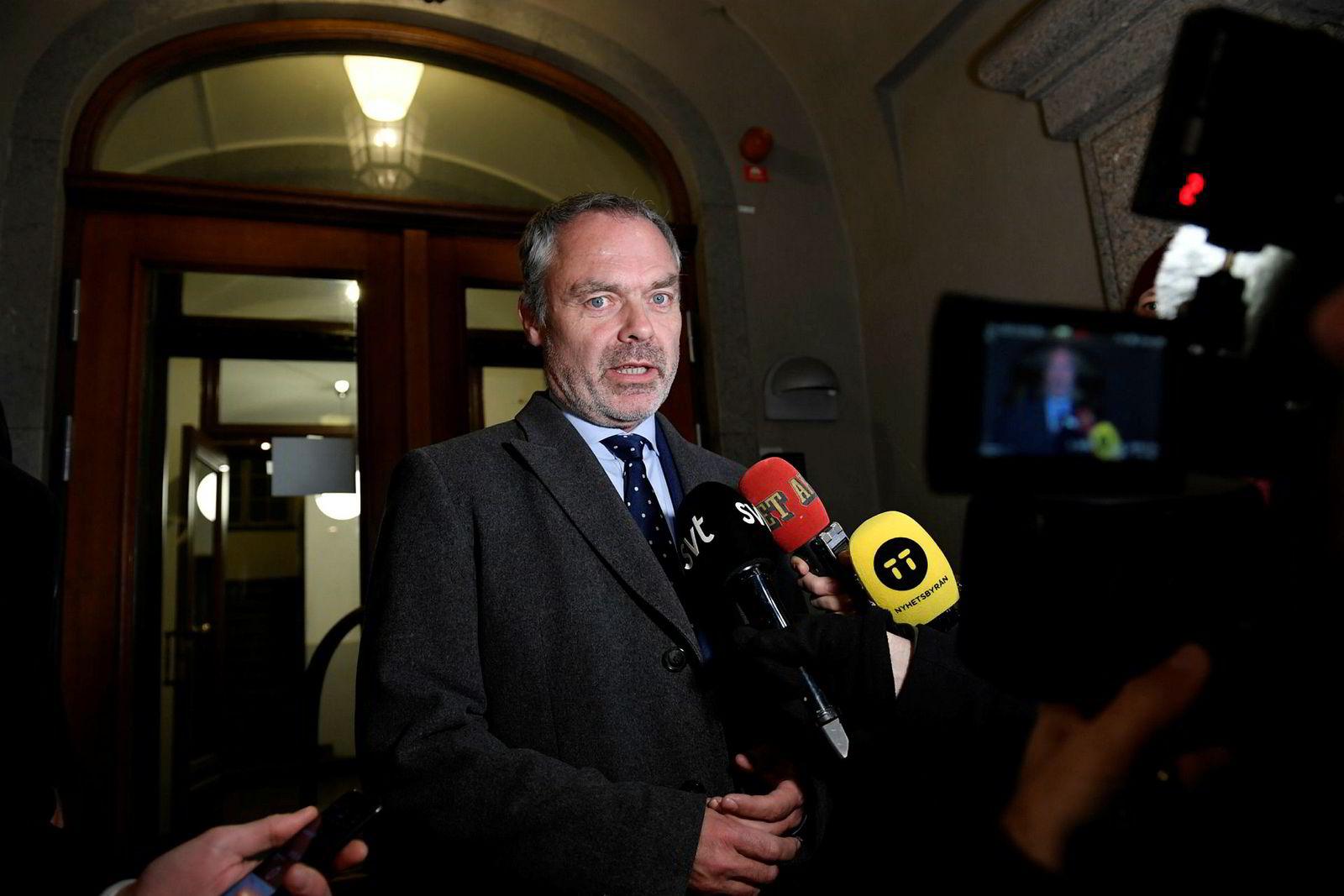 Liberalernas partileder Jan Björklund reagerte kraftig på å ha blitt kalt «Quisling».
