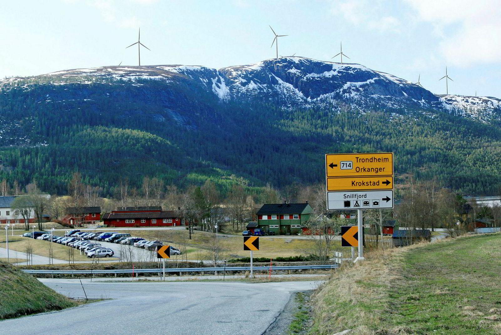 Miljøorganisasjoner prøvde å stoppe vindkraftutbyggingen ved Fosen, som her er illustrert på Geitfjellet.