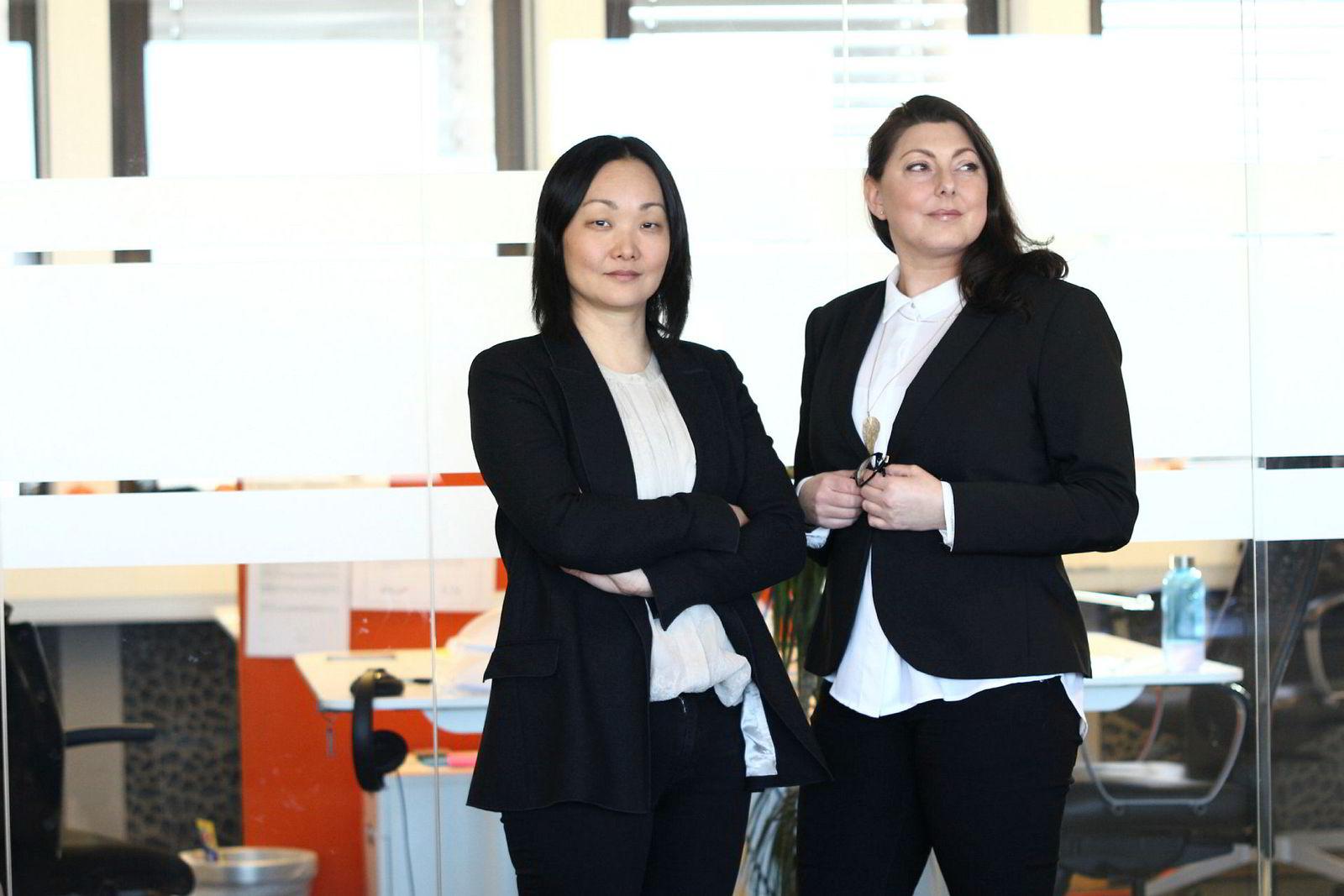 Janicke Angerman Leiren (til venstre) og Tina Jeanette Tharaldsen er nytt lederteam i Iteo.