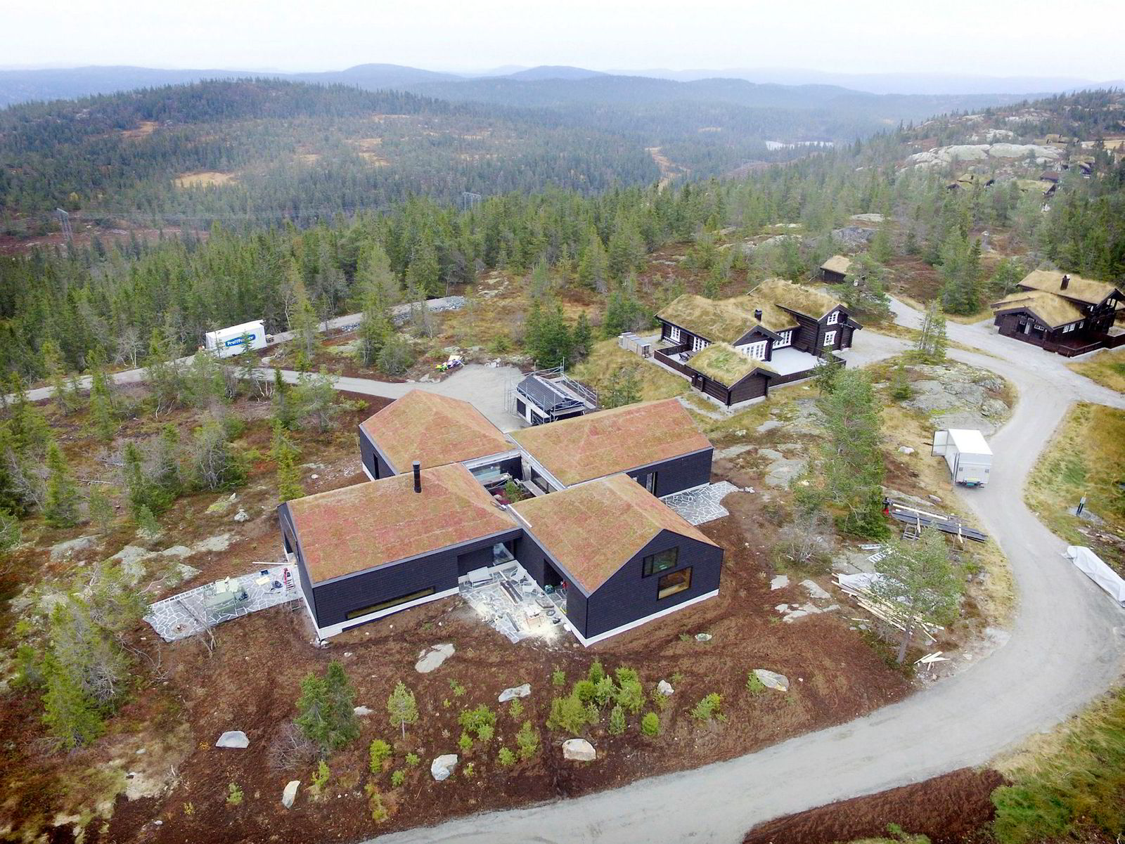 Kraftinvestor Einar Aas' hytte i Nissedal i Telemark, høsten 2016.
