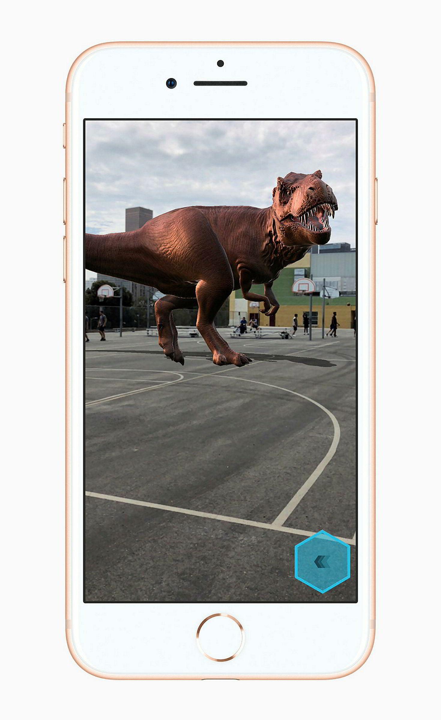 Iphone 8 har innebygget støtte for AR-spill og opplevelser.