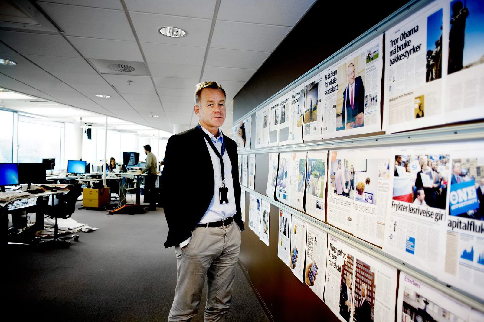 Sjefredaktør og administrerende direktør Amund Djuve i Dagens Næringsliv sier alle avisens traffikkdata kun brukes i aggregert, eller samlet, format.