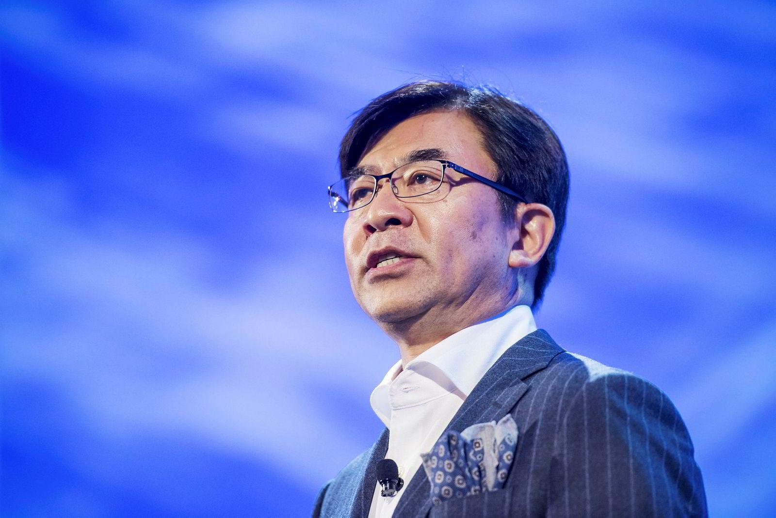Kim Hyun-suk er sjef for forbrukerelektronikk hos Samsung.