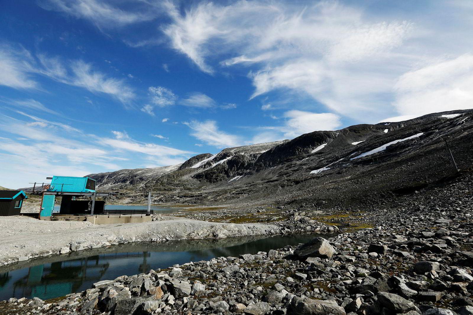 Skianlegget til alpinsenteret på Strynefjellet. Bildet er tatt i august i fjor.