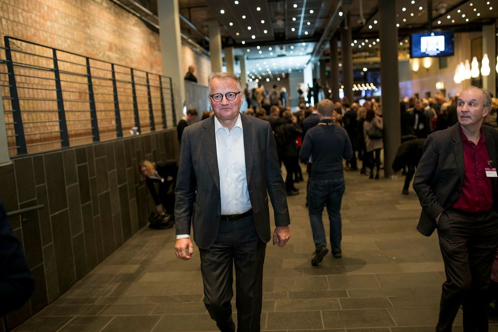 DNB-sjef Rune Bjerke på NHOs årskonferanse.