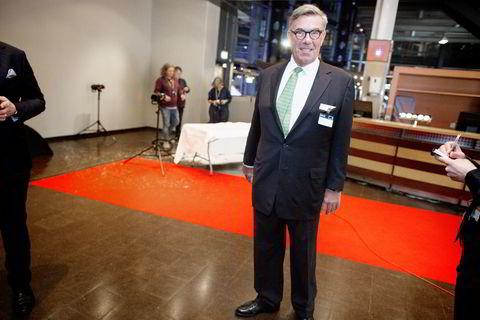 Stein Erik Hagen ankom torsdag kveld festmiddagen i anledning NHOs årskonferanse i Oslo Spektrum.