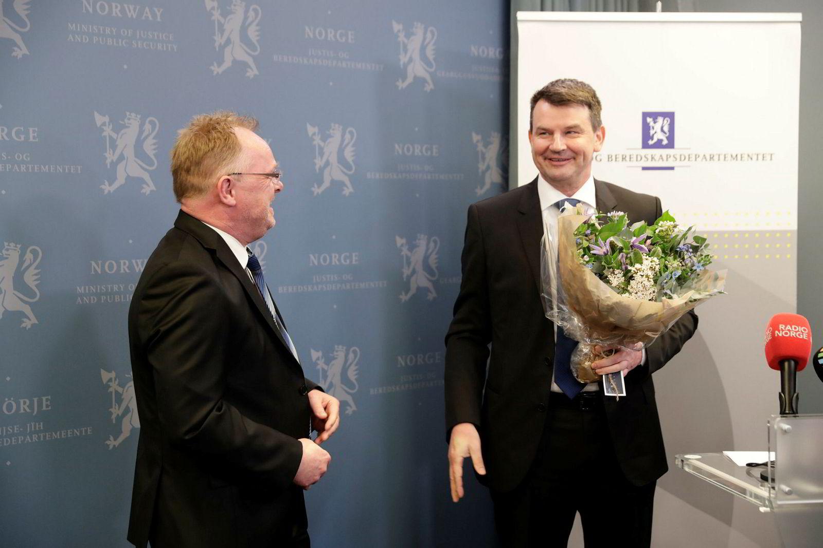 Tor Mikkel Wara tok over som justisminister etter Sylvi Listhaug. Per Sandberg fungerte som justisminister bare midlertidig.
