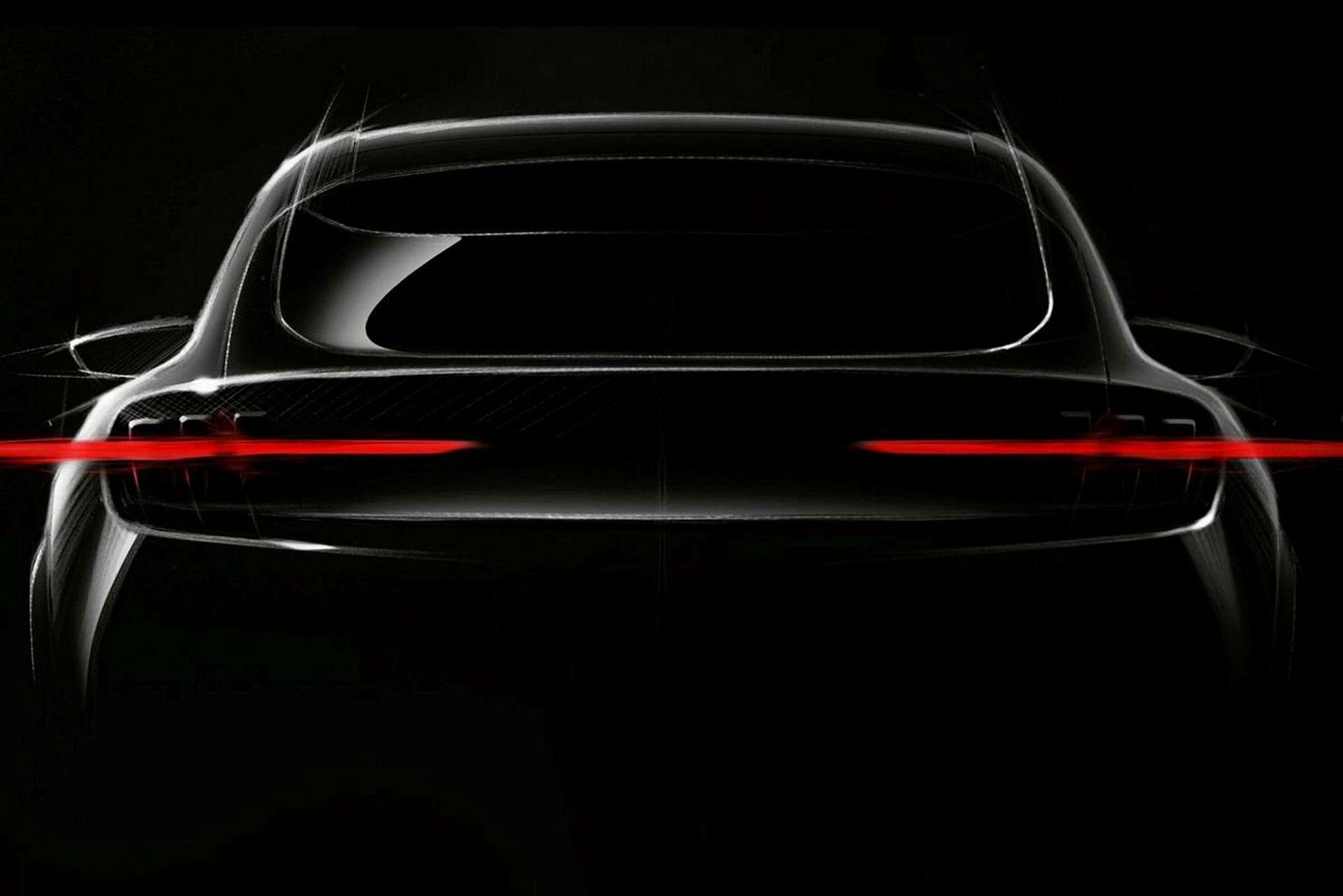 Dette er foreløpig hva Ford har røpet på designet til den nye Mustang-inspirerte elektriske suven.