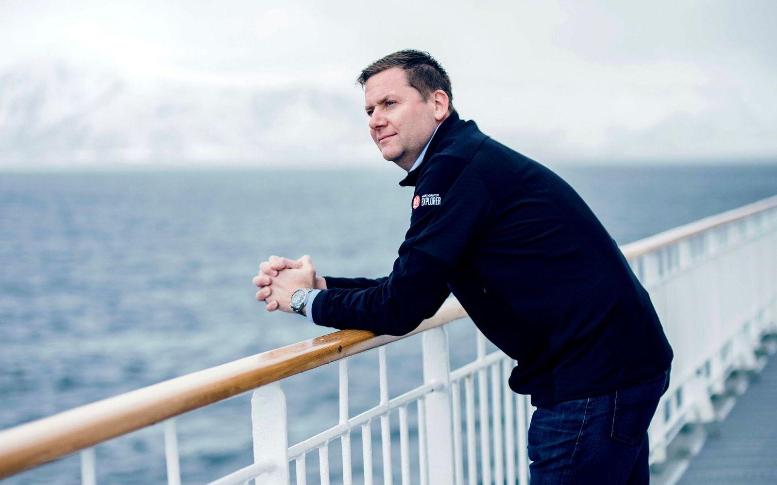 Daniel Skjeldam, administrerende direktør for Hurtigruten, sier han er kjempefan av å skille ut reiselivsdivisjonen fra Innovasjon Norge og etablere et nytt selskap der næringen får større innflytelse.