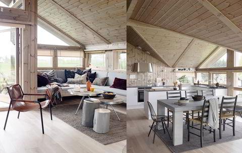 Flere hyttebyggere vil ha moderne stil, mye lys og luft ifølge Hedda Hytter.