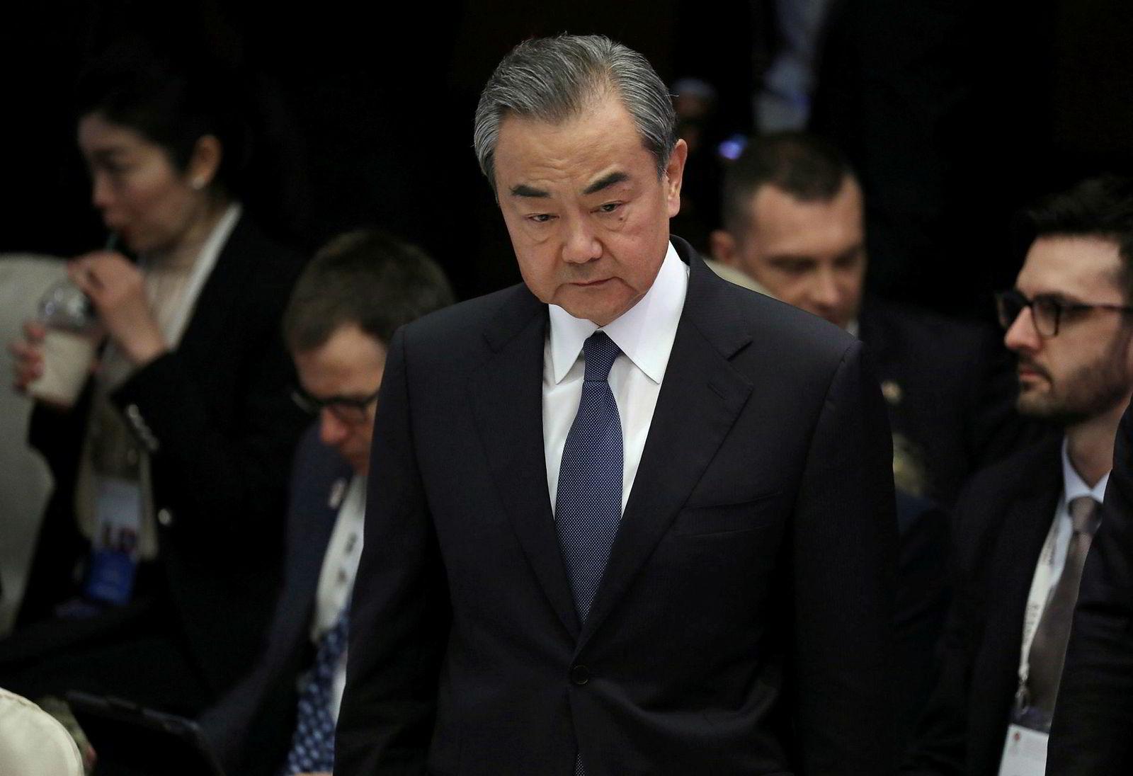 Kinas utenriksminister Wang Yi, her under det asiatiske toppmøtet ASEAN i Bangkok fredag.