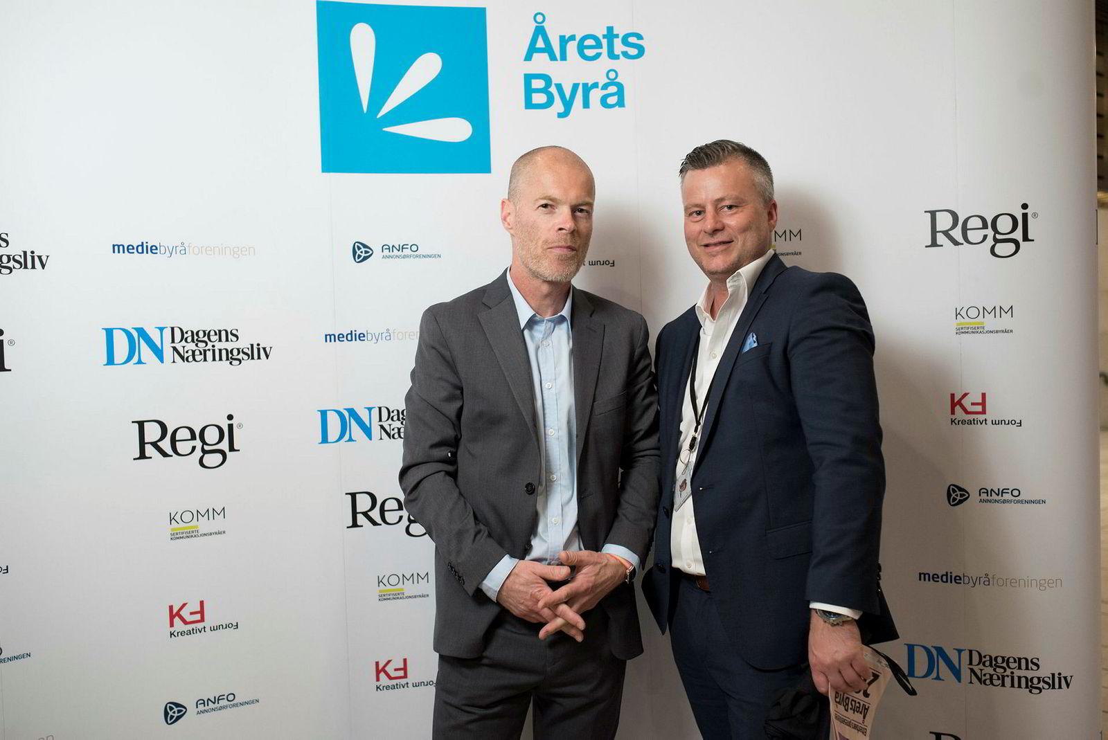 Fra venstre: Journalist Bjørn Eckblad og annonsedirektør Eirik Eckbo i Dagens Næringsliv.