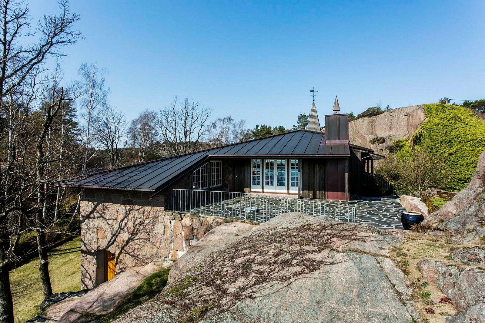 «Slotte» på Hesnes utenfor Grimstad.