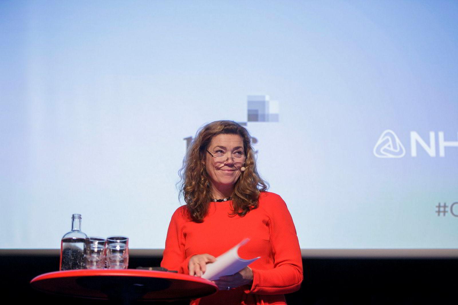 Administrerende direktør i NHO, Kristin Skogen Lund, snakket om jobber og velferd.