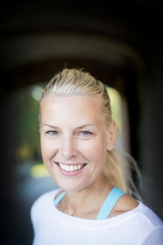 Yogainstruktør Vibeke Klemetsen.
