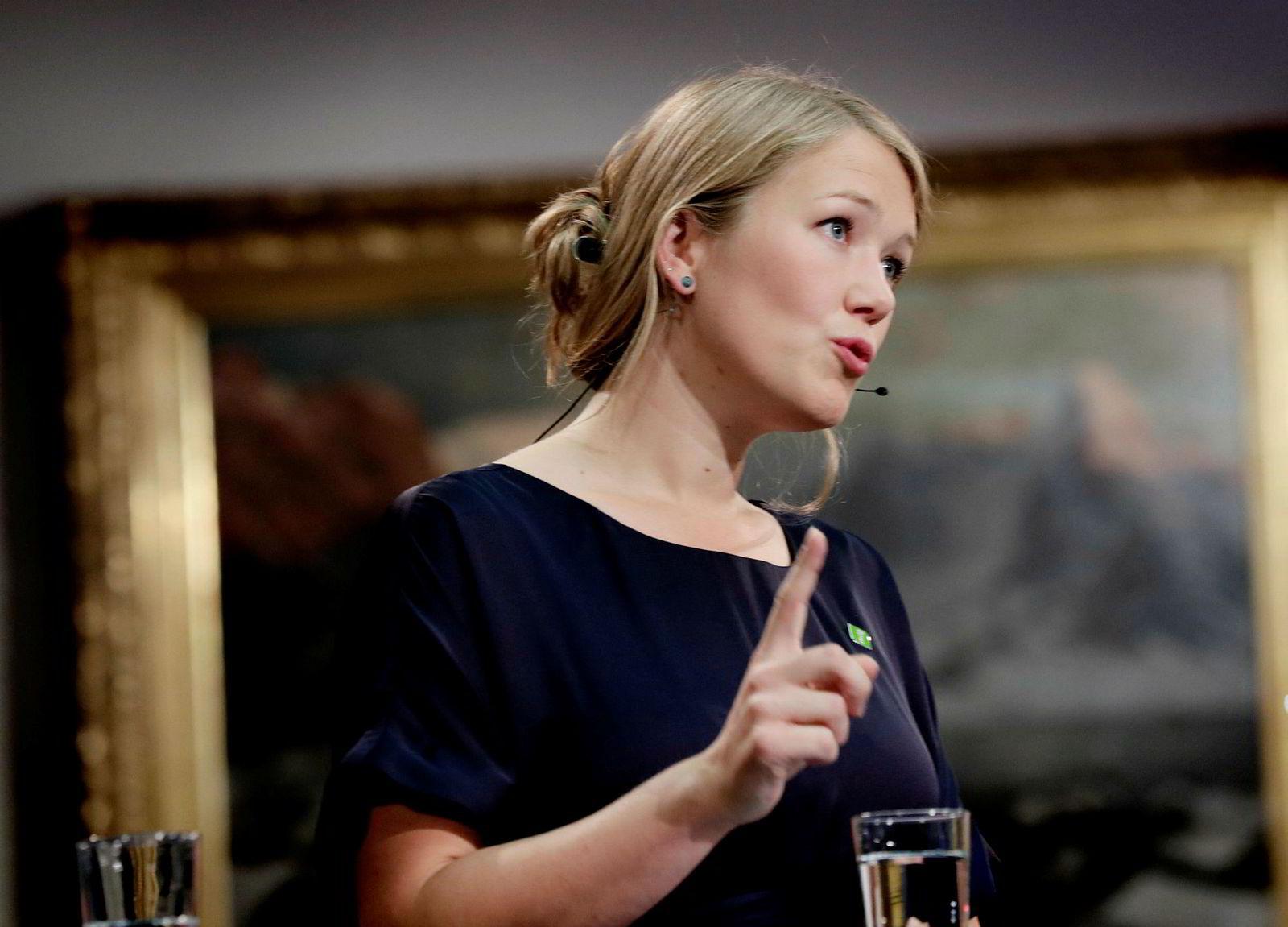 Nyvalgt stortingsrepresentant Une Aina Bastholm fra Miljøpartiet De Grønne (MDG).