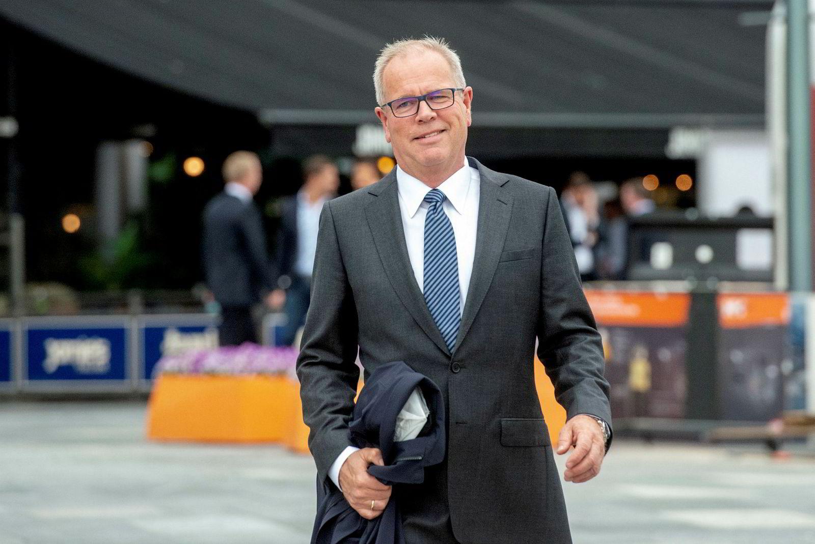 Styreleder i Marine Harvest Ole-Erik Lerøy var på plass for å feire en av storeierne i selskapet.