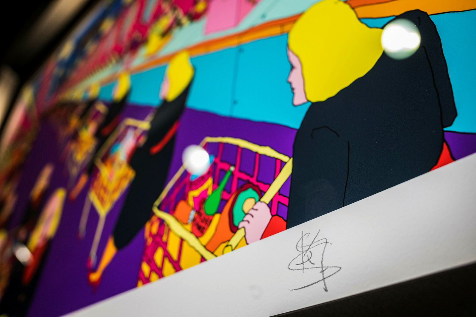 Pushwagners siste verk har støttespilleren Stefan Strays signatur «SKJS».