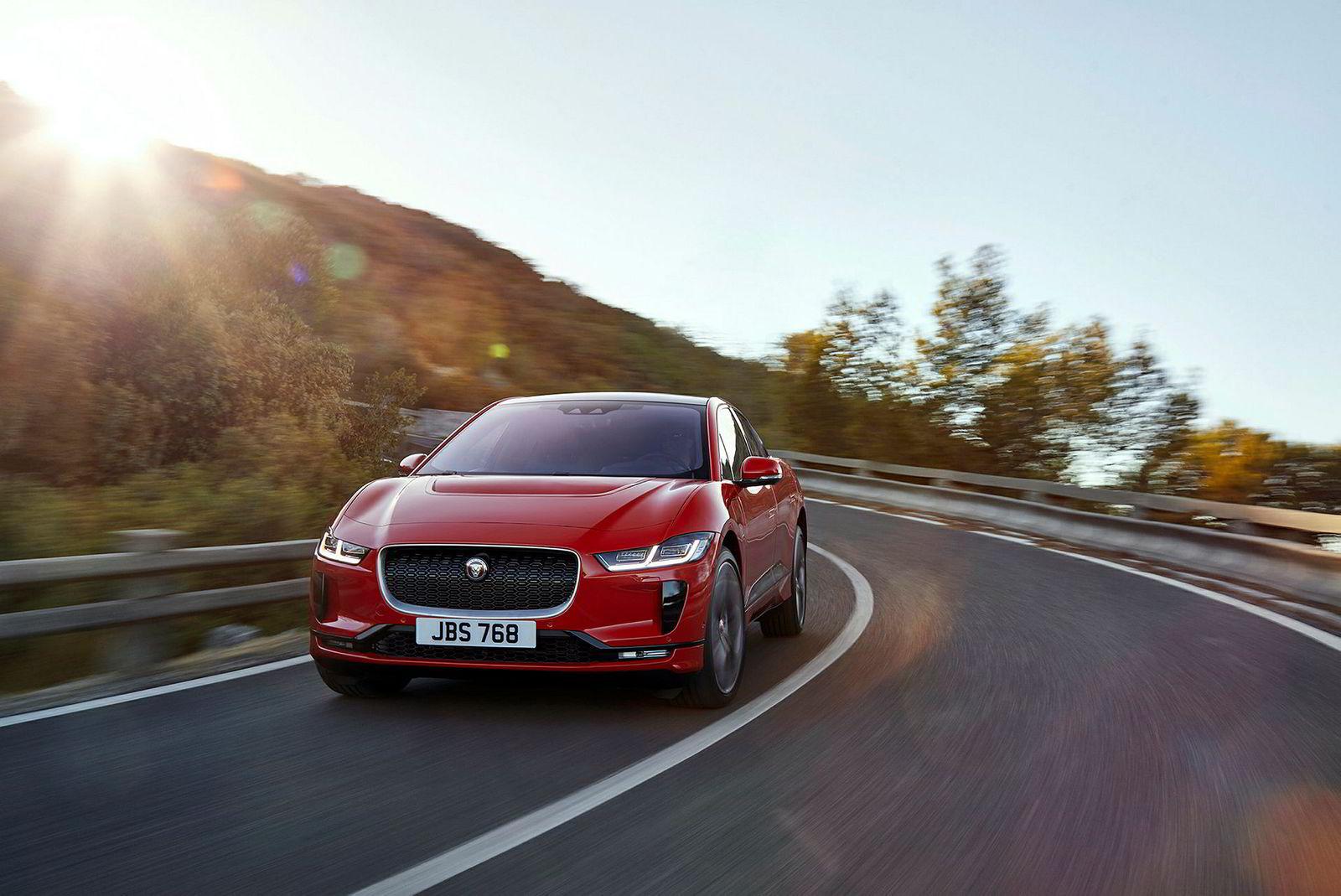 Jaguars første elbil ventes til Norge i slutten av august.