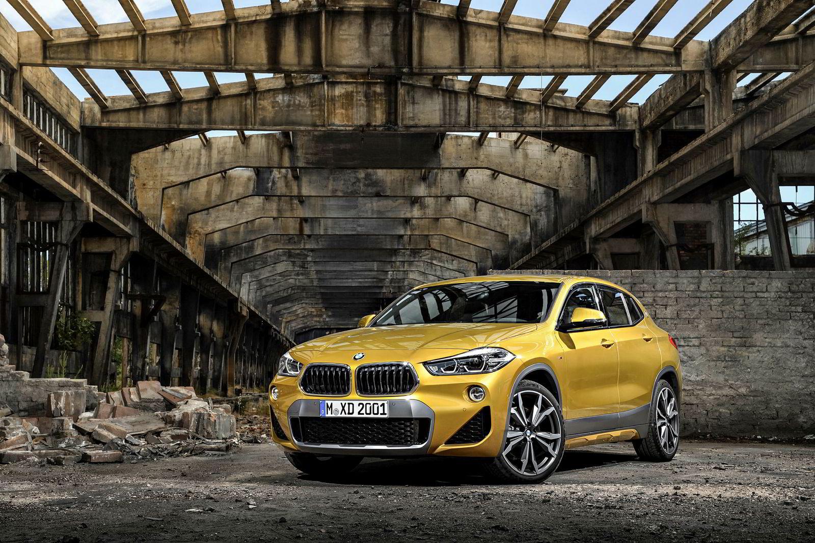 BMW lanserer en lang rekke suver i 2018. Her er minstemann X2.