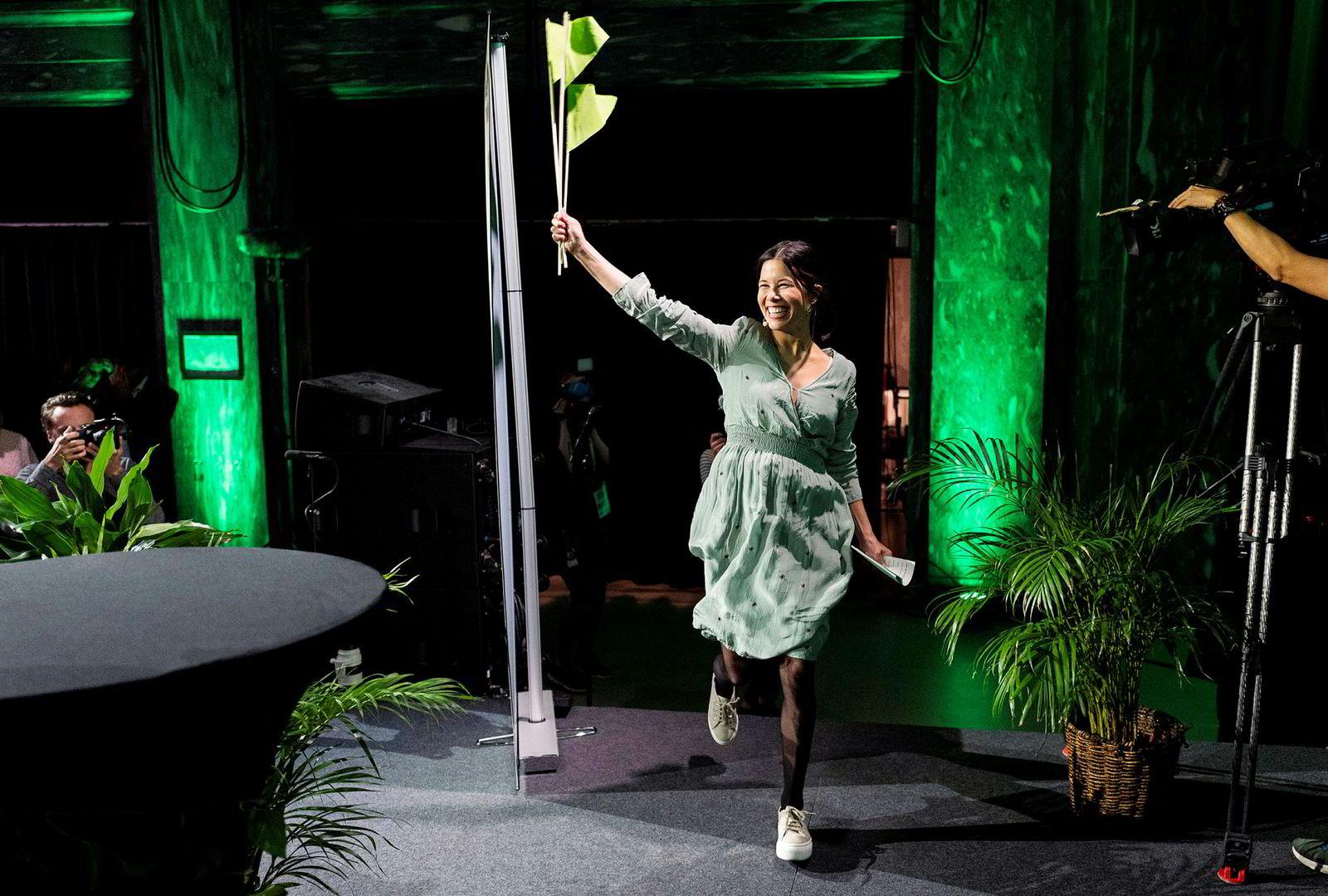 Byråd Lan Marie Nguyen Berg jublet etter mandagens brakvalg i Oslo.