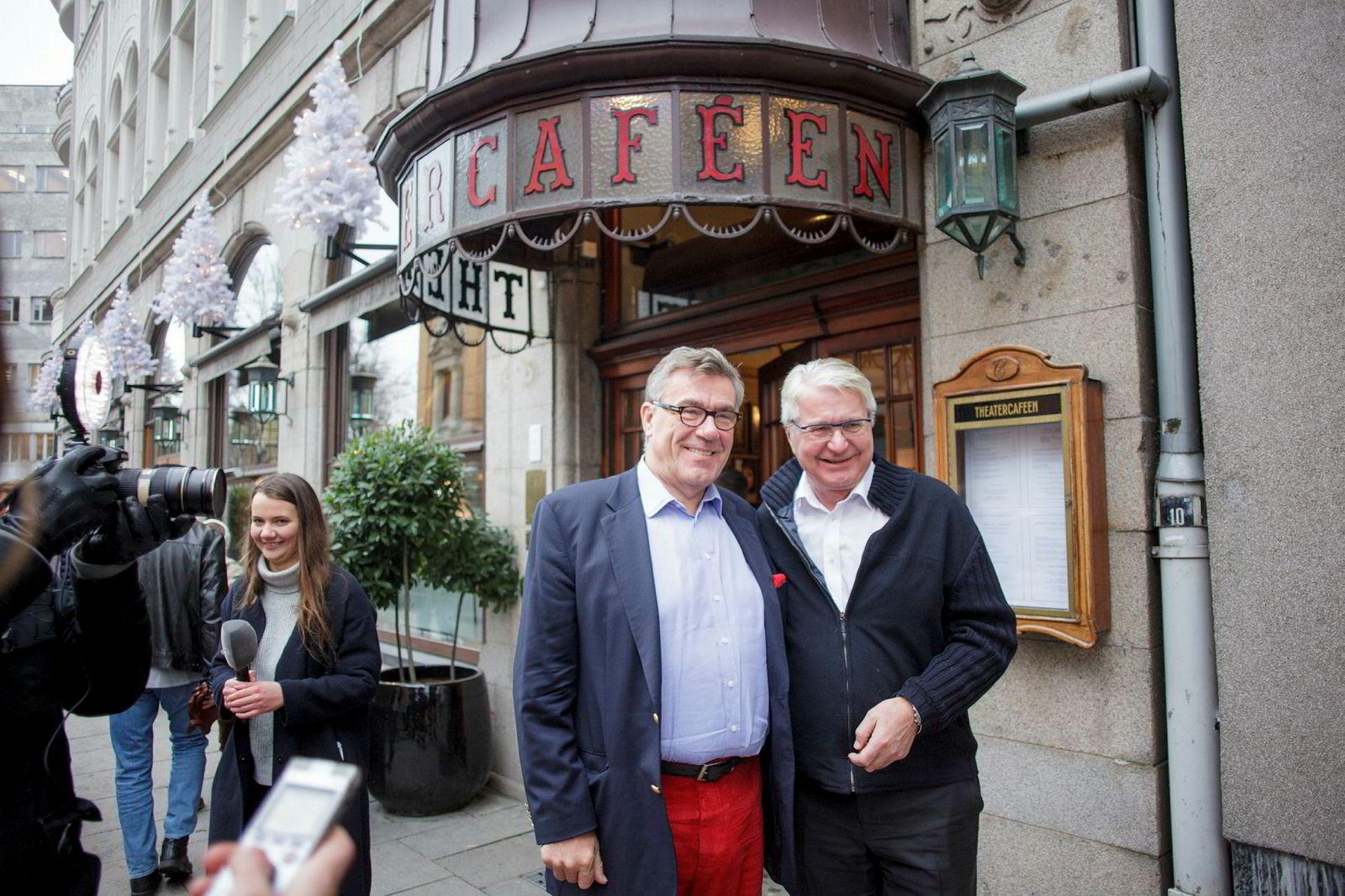 Stein Erik Hagen og Fabian Stang (til høyre) var ikke invitert til Fredriksens julelunsj.