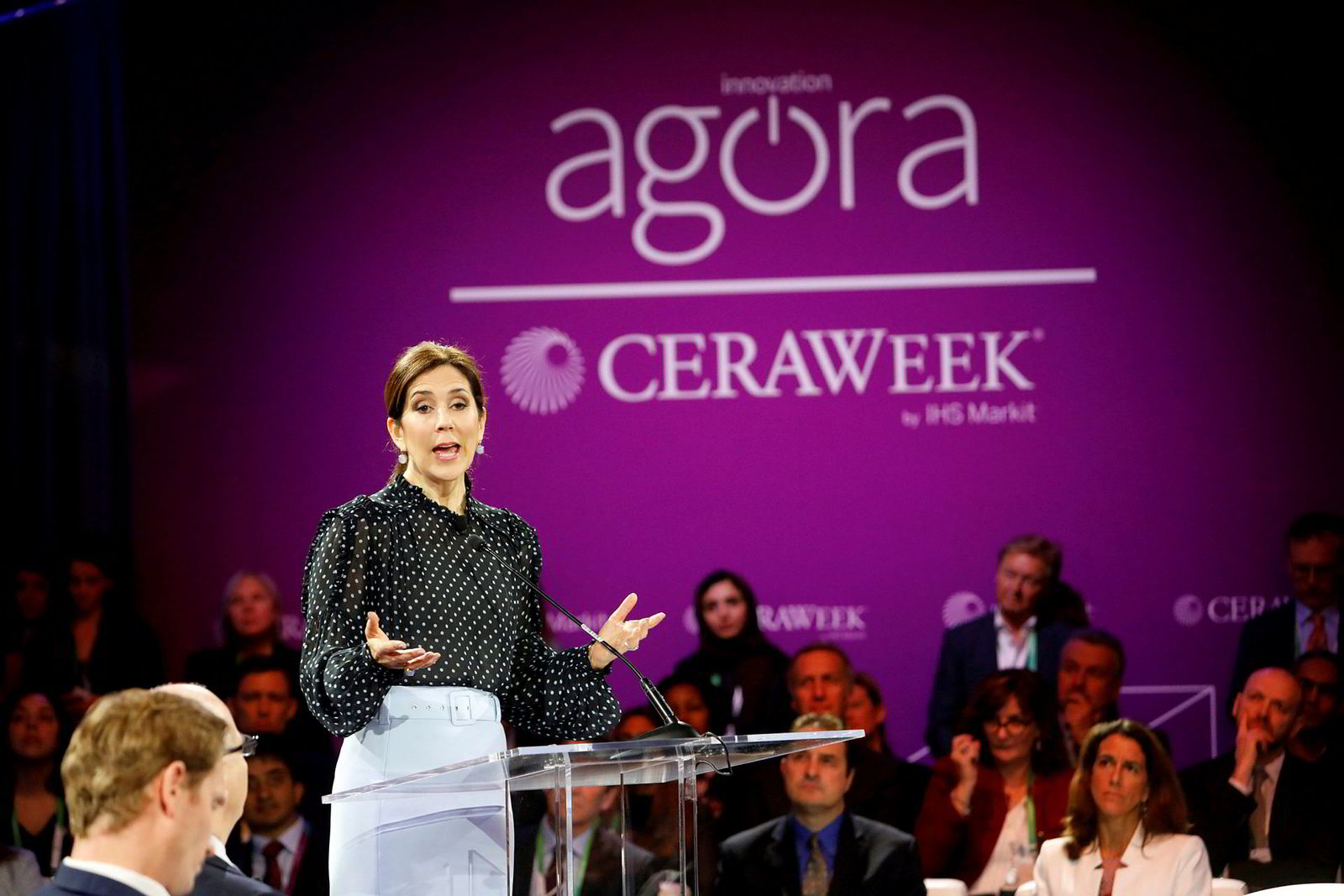 Danmarks kronprinsesse Mary var blant de inviterte talerne under fjorårets konferanse.
