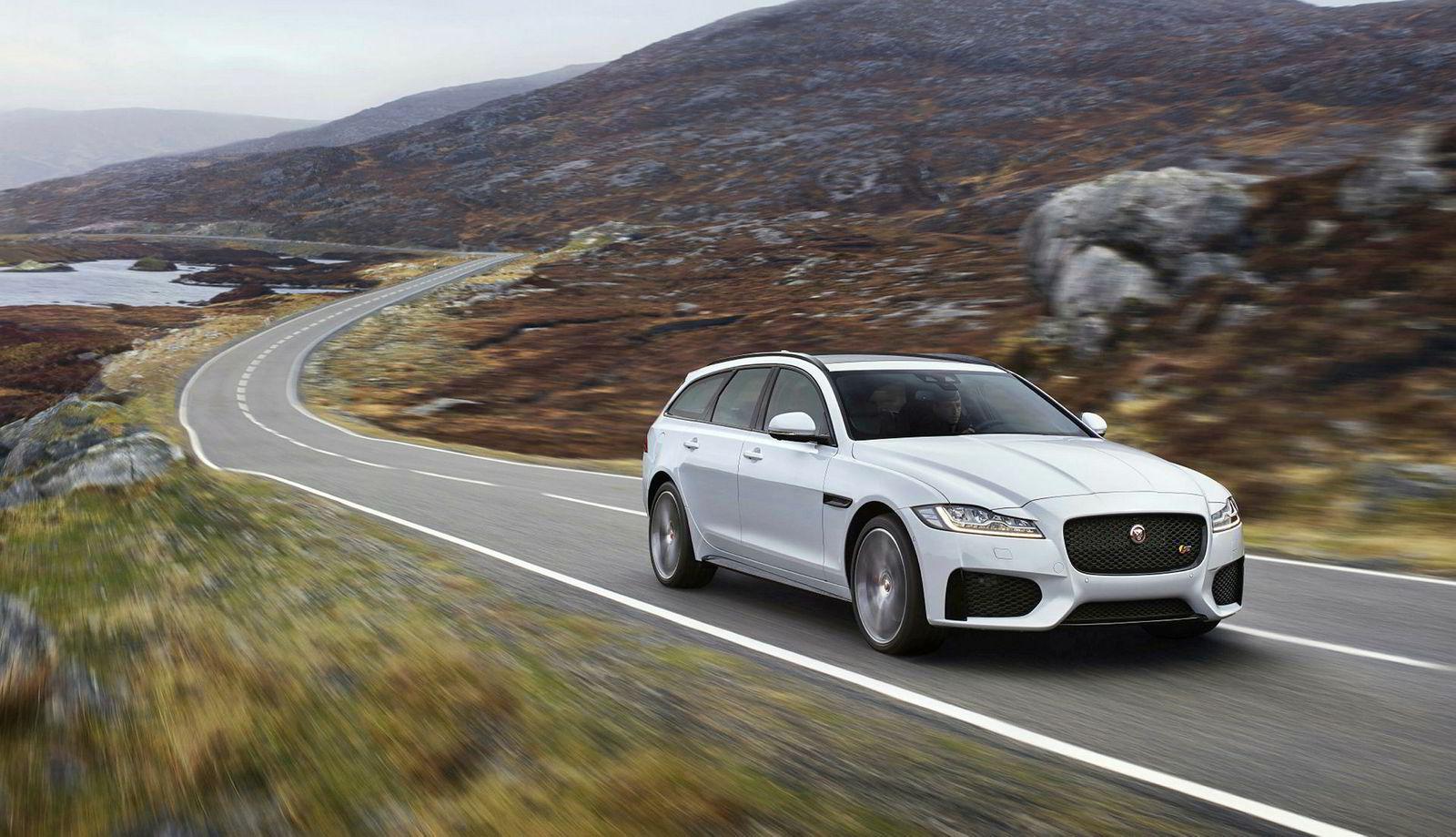 Jaguar har tatt pressebilder av nye XF Sportbrake i et landskap som kan minne om Norge, uten at vi har fått det bekreftet.