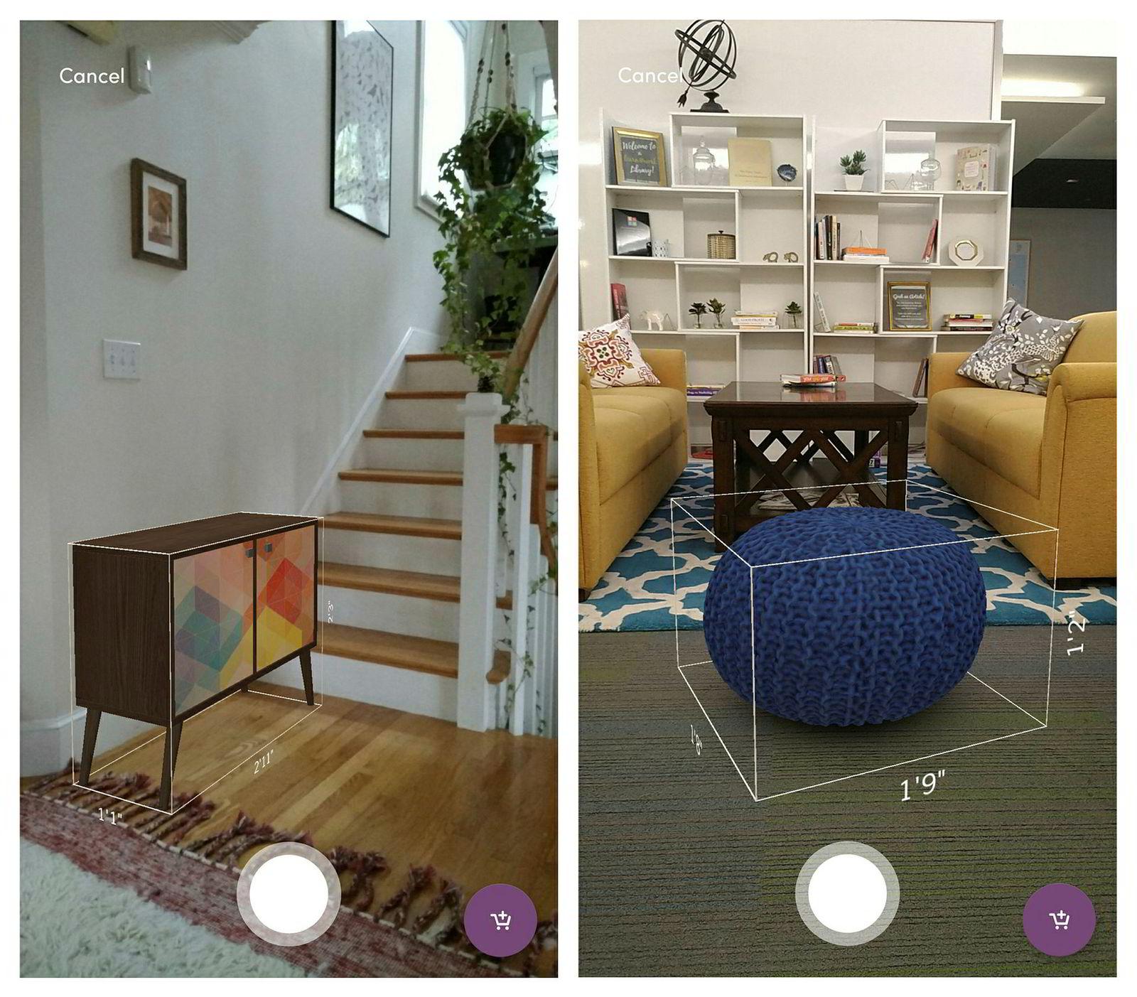 Med AR kan man for eksempel plassere digitale møbler i stuen for å se hvordan de passer inn.