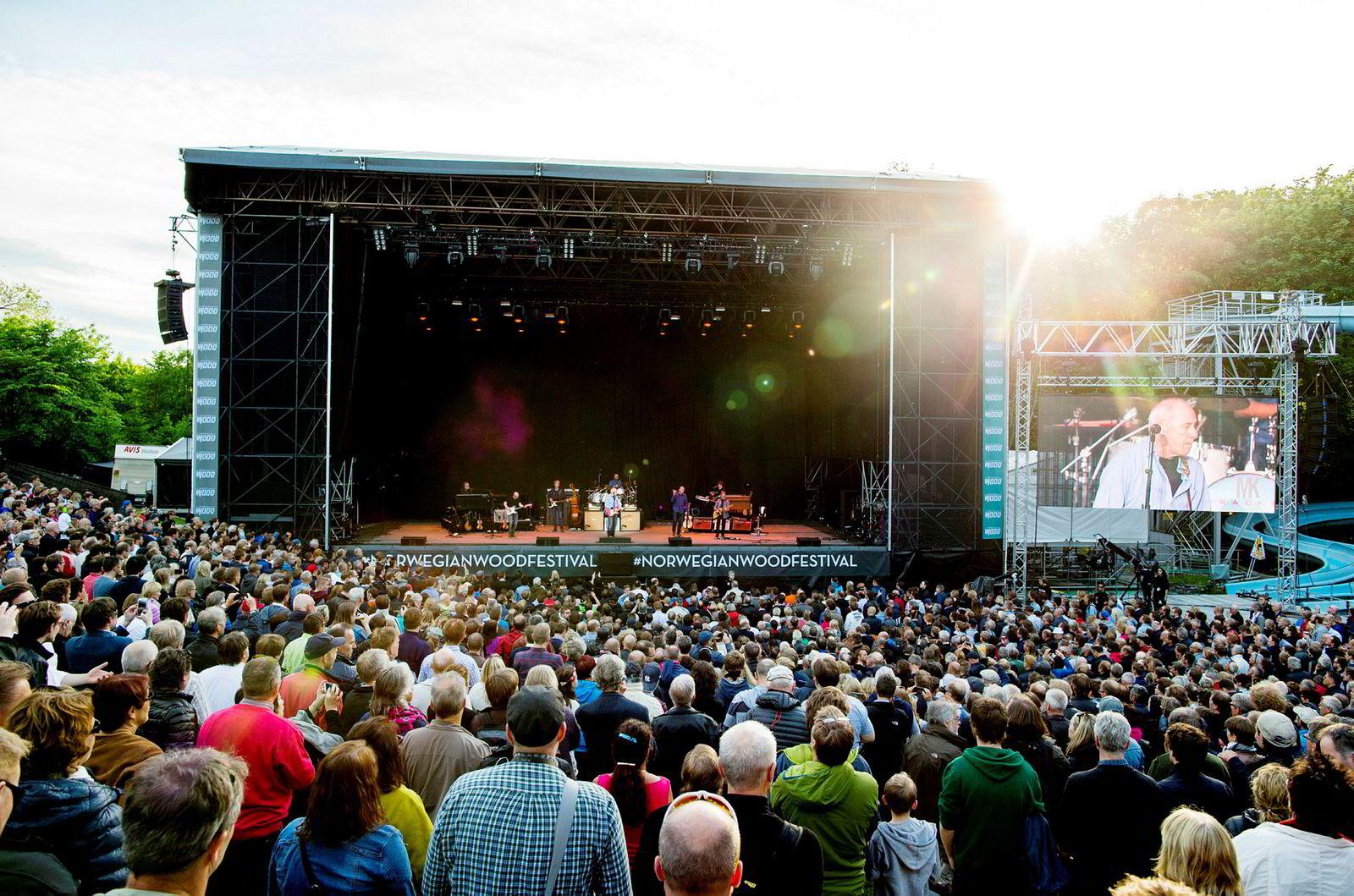 Mark Knopfler spilte på Norwegian Wood i Frognerbadet i 2015.