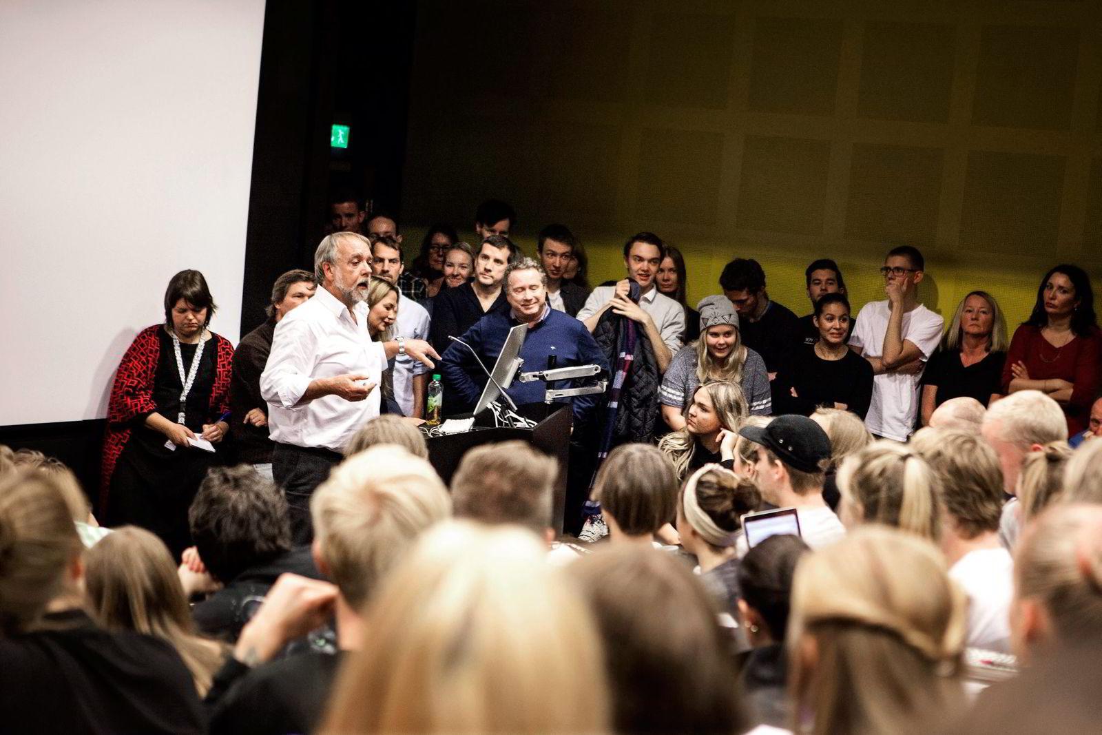 Westerdals-rektor Bjørn Jarle Hanssen holdt allmøter på skolens tre campus denne uken. Temperaturen var høyest på campus Vulkan, der studentene benyttet anledningen til å uttrykke sin misnøye med skolens drift og manglende fasiliteter.