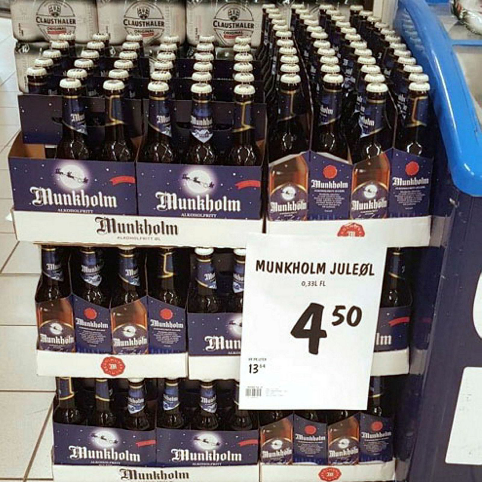 Her et av bildene som ble tatt av Munkholm juleøl i en av butikkene som ble sjekket i VGs matbørs.