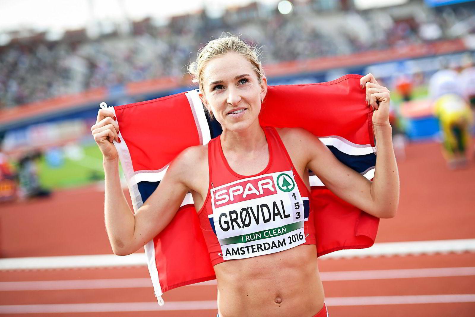 Karoline Bjerkeli Grøvdal fra Tjalve og Norge ble nummer tre på 10.000 meter i EM.