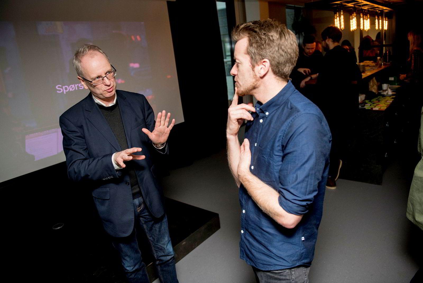 Filosof Henrik Syse i samtale med Preben Carlsen.