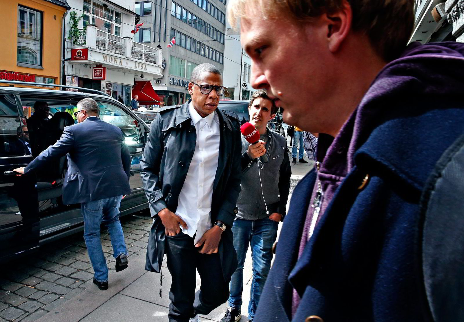 Jay Z and Beyoncé visited Tidals offices in Oslo last may, less than two months after he formally aquired the streaming service. Foto: TROND SOLBERG,