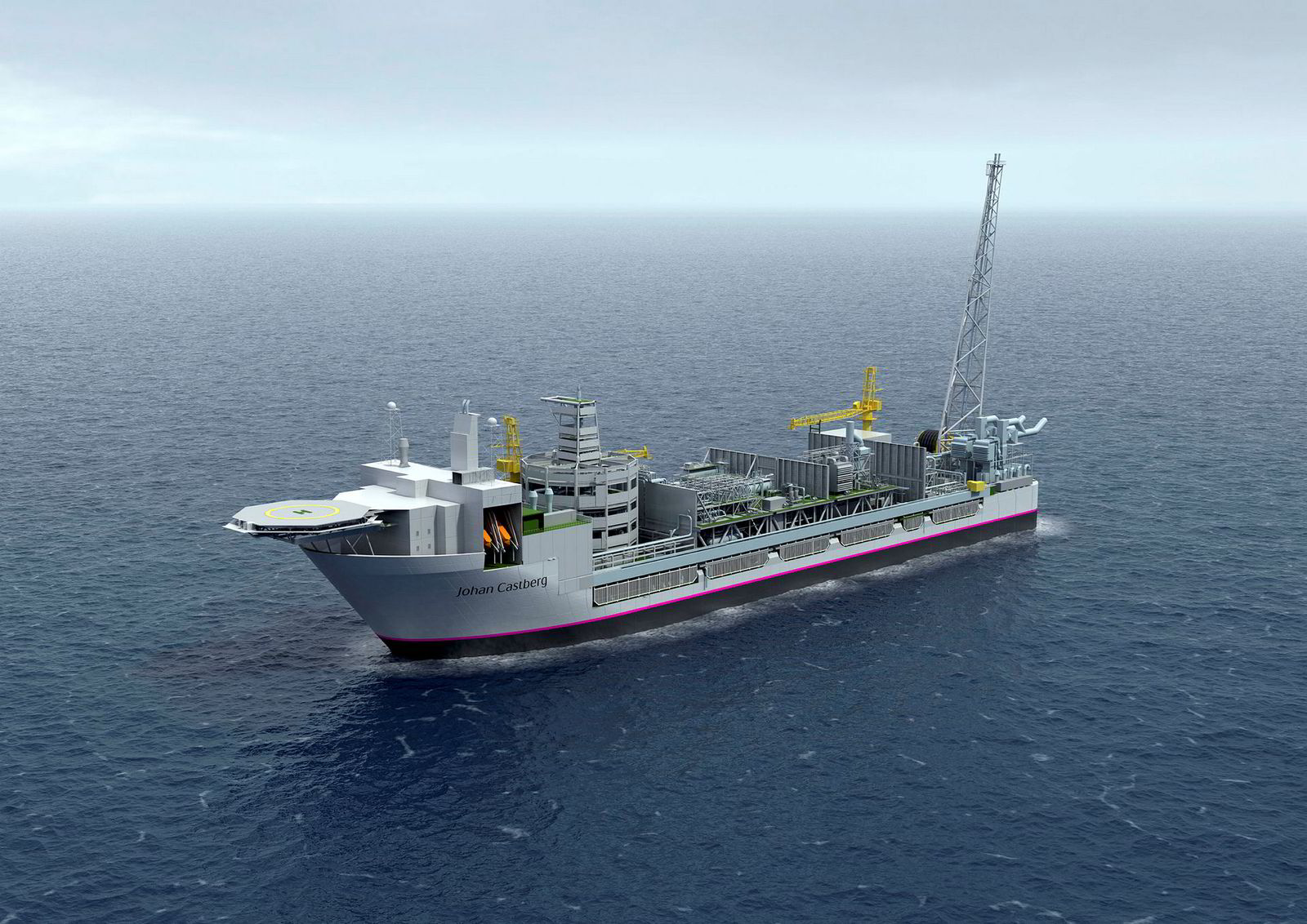 Illustrasjonsbilde av Statoils flytende produksjonsskip på Johan Castberg-feltet.