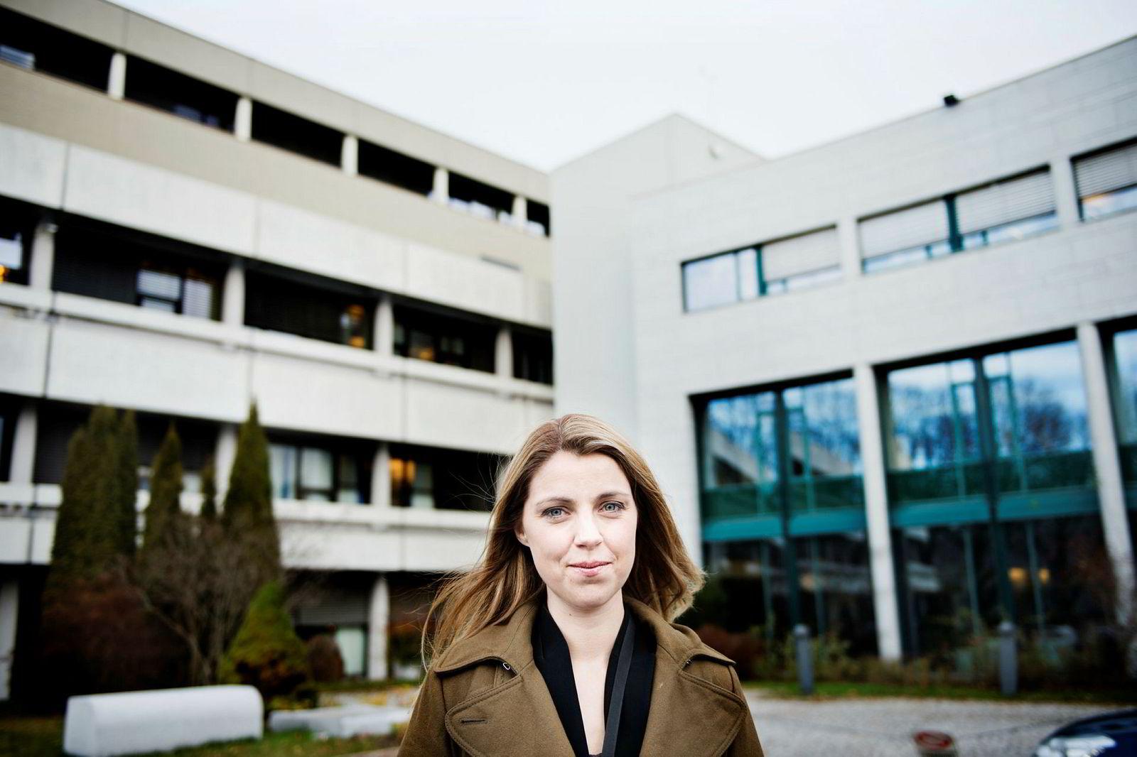 Nyhetsdirektør Alexandra Beverfjord i NRK.