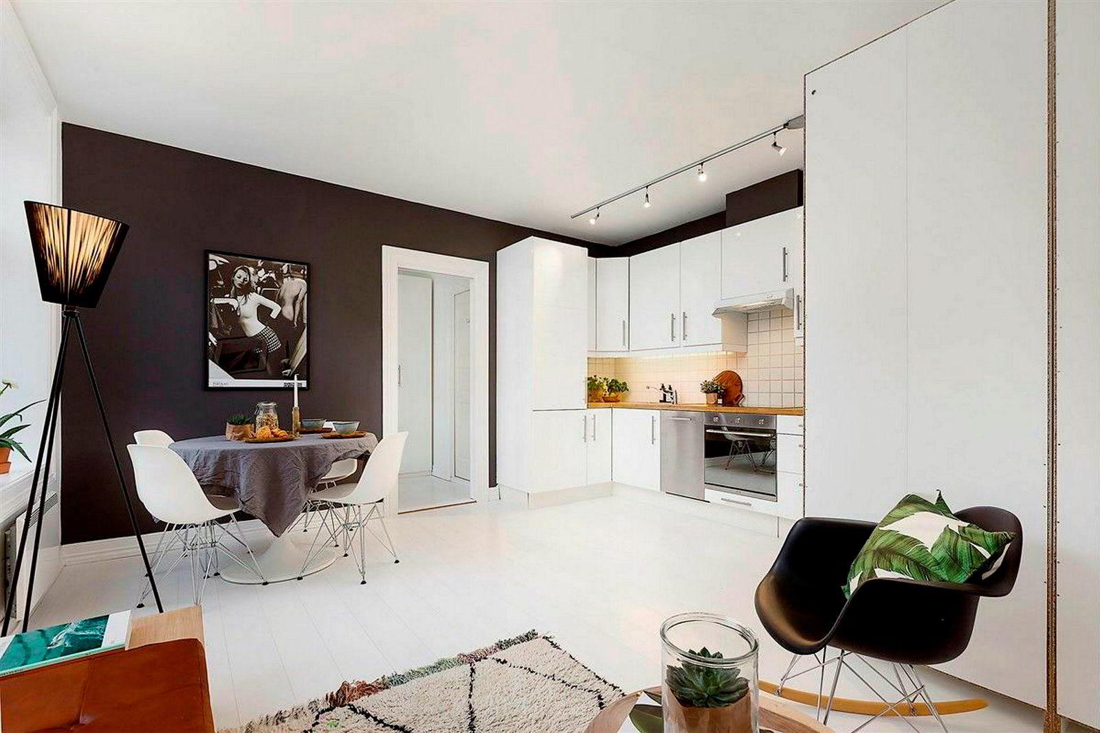 Denne 30 kvadratmeter store toromsleiligheten på Grünerløkka i Oslo hadde en prisantydning på 2,8 millioner kroner, og ble nylig solgt for 3,1 millioner kroner. Foto: Foto: Zovenfra/Nordvik & Partners