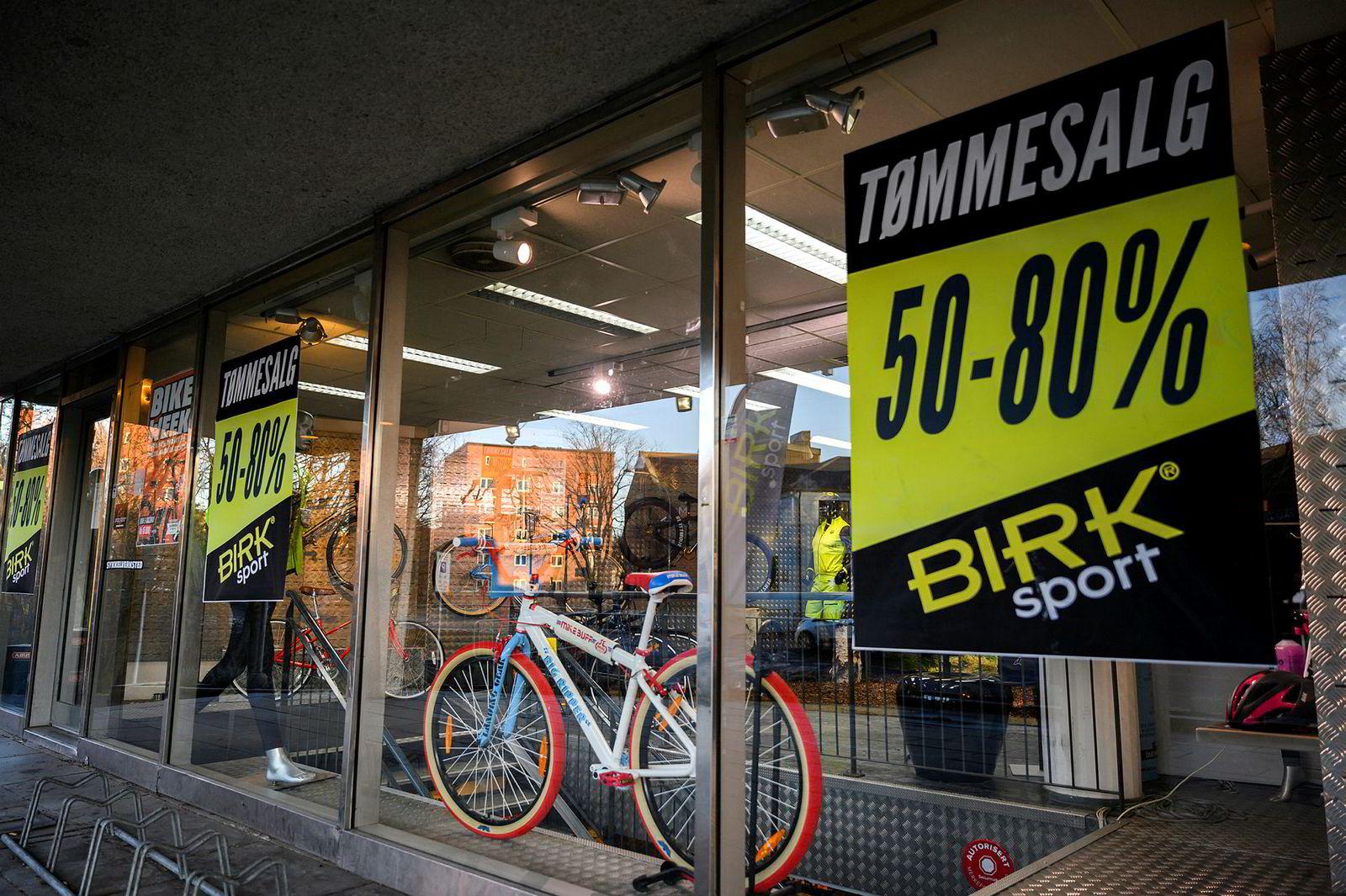 Sykkelforretningen Birk Sport har begjært seg konkurs etter tosifret milliontap i 2019. Bildet er fra butikken på Torshov.